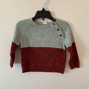 Tucker + Tate sweater size 12M red and gray